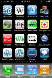 iPhone Apps Screen