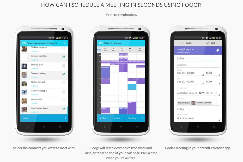 foogi a cross platform calendar scheduling app advocate s studio